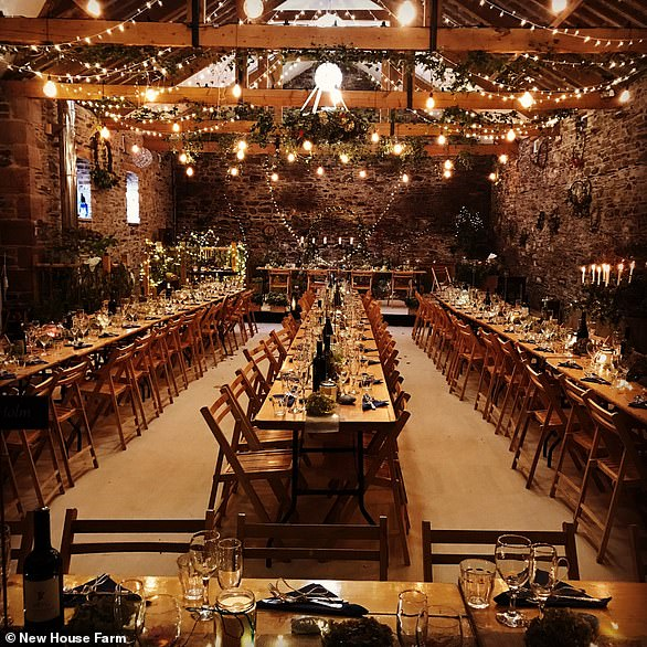 If you would prefer an indoor location, New House Farm in Cockermouth, Cumbria, may be the spot for you with its intimate wedding venue