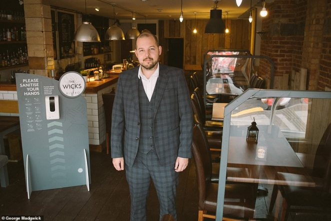 George Madgwick, who runs The Wicks Bistro, in Cosham, near Portsmouth, said he has already had eight cancellations from worried diners who had booked late-evening tables