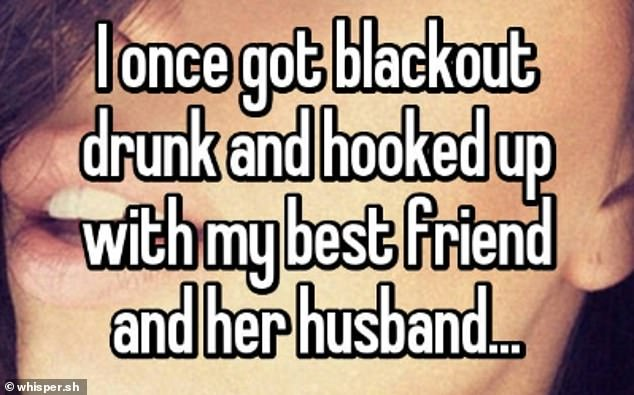 A woman from New Hampshire, confessed that she spent a night with her best friend and her husband because she drank too much