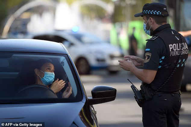 Parts of Madrid have been plunged back into full lockdown as coroanvirus cases in Spain have soared, but most of the city is still allowed to move around freely