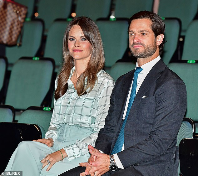 The royal couple appeared to be in high spirits as they arrived for the preview of 'If I Say Something, It Only Gets Worse...' in Stockholm City Theatre