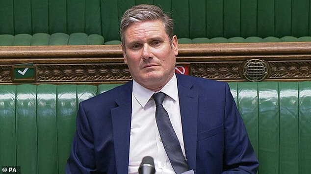The MPs, who had all previously criticised it, were reportedly told if they voted against they would be forced to resign their positions. Pictured: Sir Keir Starmer