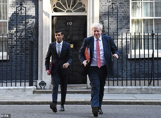 Chancellor of the Exchequer Rishi Sunak (left) and Prime Minister Boris Johnson leave 10 Downing Street, for a Cabinet meeting to be held at the Foreign and Commonwealth Office (FCO) in London, ahead of MPs returning to Westminster after the summer recess on September 1