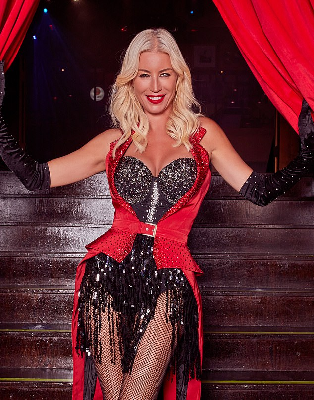 Actress Denise van Outen, 46, (pictured) has been performing her show Cabaret All Stars in socially distanced performances at the Proud Embankment venue in London