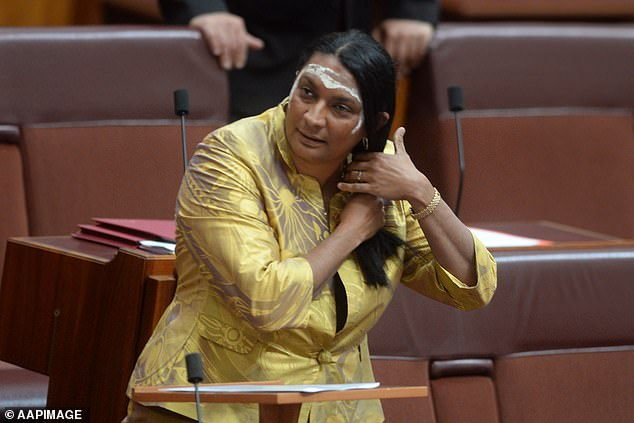 Ms Peris (pictured) said the taxpayer should not be forking out to buy the copyright from Mr Thomas