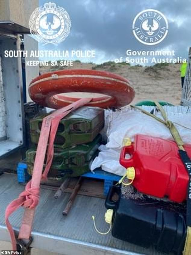 Debris was found washed up near the Murray Mouth on Wednesday morning consistent with items from Mr Higgin's boat