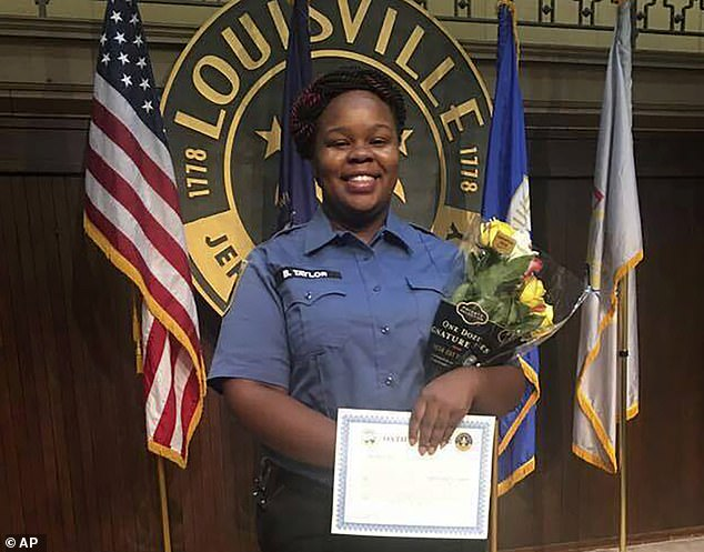 Taylor (above), a paramedic, was killed on March 13 when police executed a search warrant at her home and returned fire after her boyfriend shot and wounded one officer