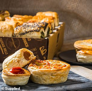 Banjo's is known for its wide range of decadent pies and pastries (pictured)