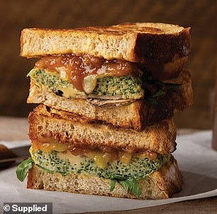 As well as other options like spinach and mushroom frittatas inside toasted sourdough bread