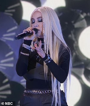 Killer voice: Daneliya Tuleshova, the 14-year-old singer from Kazhakstan, rocked out on Kings & Queens with pop sensation Ava Max, 26, who agreed that ¿this girl has a killer voice'
