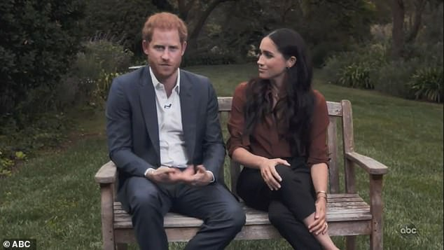 Judi said the 'confident' Duchess of Sussex 'checked the important messaging' during the segment when the Duke was speaking