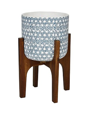 Patterned Pot On Wooden Legs (£39.99) at Very