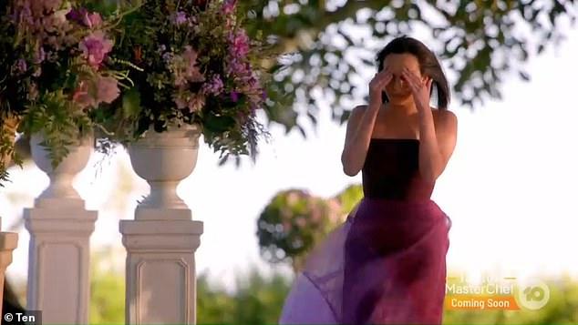 Heartbroken: Bella then ran away in tears, still shaken over what had just happened
