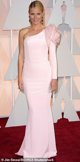 Another pink princess look:this Oscar gown in 2015