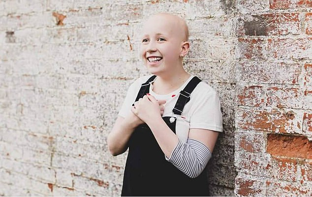 In 2018, just eight days before she was due to sit her GCSE exams, the cancer did come back and further treatment kept the size of the tumour stable until May of this year, when it started growing once more. Pictured, Rosie