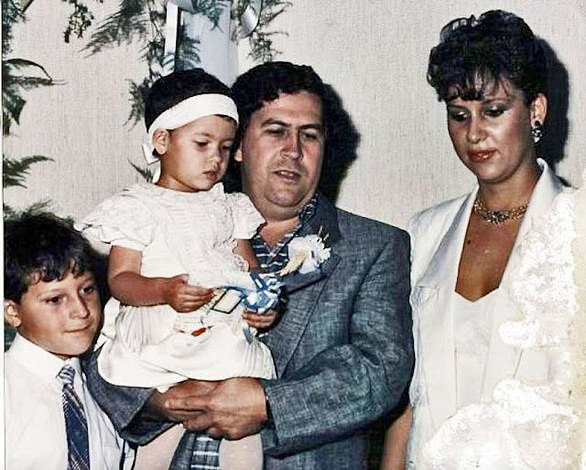 The drug baron married María Victoria Henao and had two children together, Juan Pablo and Manuela