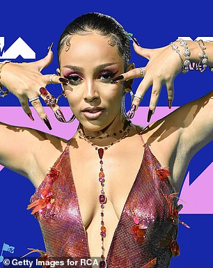 PUSH: Doja recently scooped up the PUSH award for best new artist at the VMAs despite her Billboard nomination snub that has her fans going wild