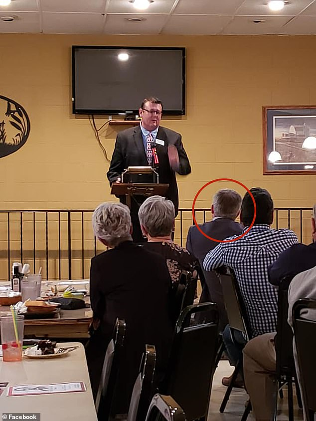 Ravnsborg is pictured (circle) at the Rooster's Bar and Grill at the Spink County Republican Party's event just before the fateful crash