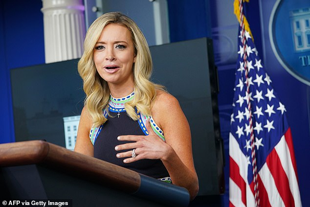 'The president will accept the results of a free and fair election he will accept the will of the American people,' said White House Press Secretary Kayleigh McEnany Thursday