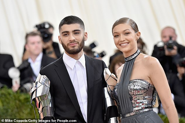 Parental pride! Zayn and Gigi have been dating on-off for the past five years (pictured in 2016)