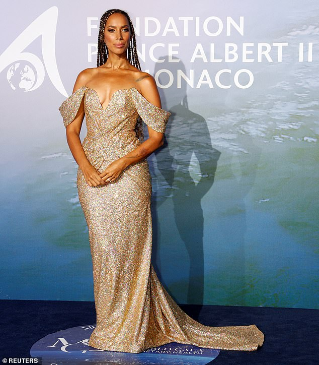 Wow!Also among the stars on the blue carpet was singer Leona Lewis, who made for a dazzling sight in a beautiful gold glitter gown