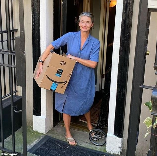 Sold: Paulina, 55 took to Instagram on Wednesday to share a photo of herself packing up her New York City townhouse, revealing another family is moving in