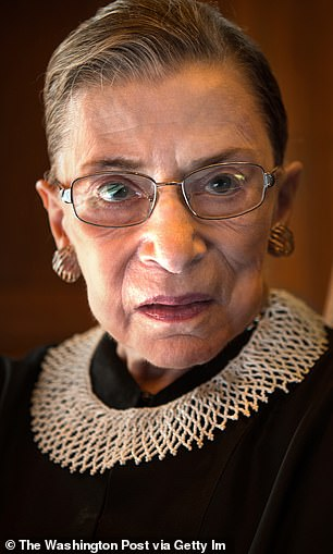 Ginsburg once revealed her collars were chosen specifically to symbolize her opinions on a particular court matter or ruling