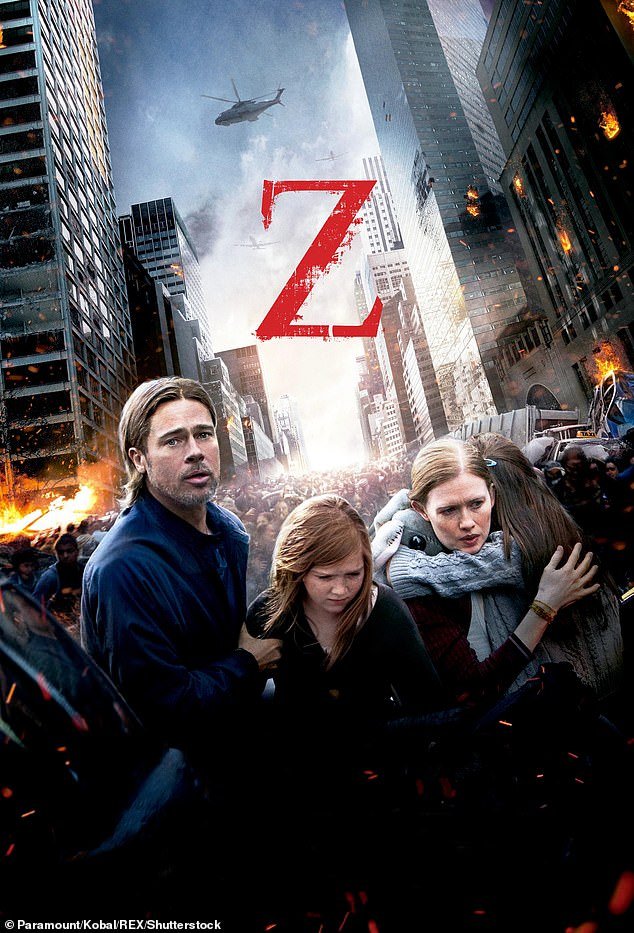 The ban on Pitt may explain why his 2013 zombie film World War Z was never allowed into China