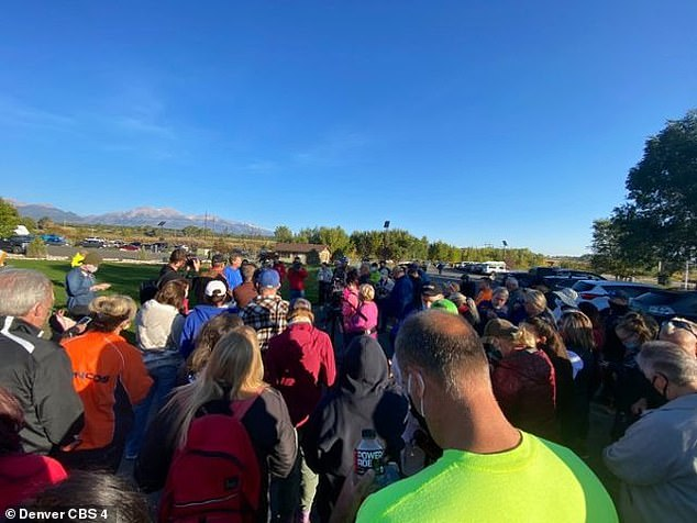 Moorman took matters into his own hands this week by organizing an independent search operation near the mountainous area where she was last seen. Hundreds of volunteers (pictured) signed up toscour the area from Thursday until Tuesday, September 29