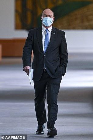Treasurer Josh Frydenberg is pictured on Thursday in Parliament House