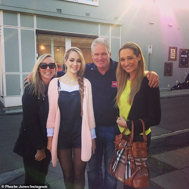 Dean Jones (pictured with his wife and two daughters) is considered one of the greats of Australian cricket