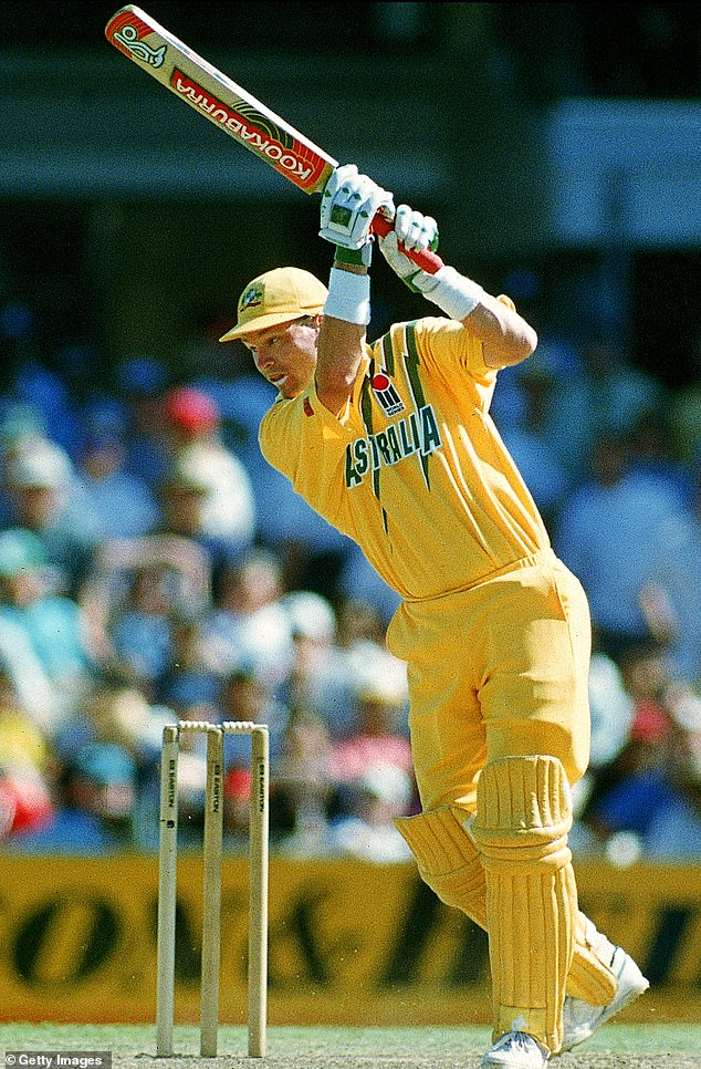 Dean Jones of Australia in action during the second One Day International Final match between Australia and South Africa at the Sydney Cricket Ground Januray 23, 1994