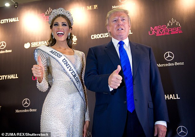 The dossier famously alleges Trump and his campaign were blackmailed by the Russian government because it had obtained a video of Trump watching prostitutes urinate on a hotel bed in Moscow in 2013 when he traveled there for the Miss Universe pageant