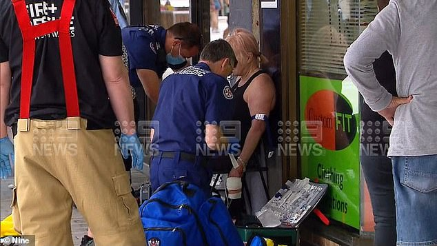 Emergency services were called to Cronulla Mall, in Sydney's south, just before midday on Friday over reports a woman had been attacked by a dog