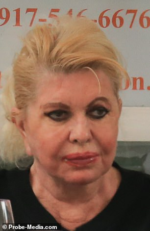 The businesswoman, 71, wore her blonde locks swept into a voluminous up-do and donned her usual heavy eye make-up
