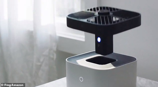 The camera will only start recording it leaves the white base – and when the device is resting in the base the camera is physically blocked