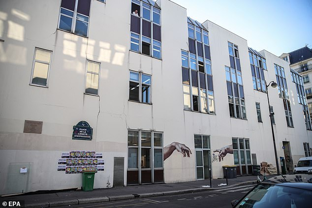 Charlie Hebdo (former offices pictured) now publishes from a secret address in Paris, and many staff members have bodyguards