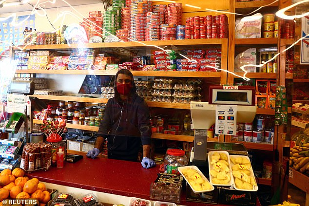 More than 850,000 residents in 37 neighbourhoods have been confined to their areas this week unless they have a reason to go elsewhere (shopkeeper in Madrid earlier today)