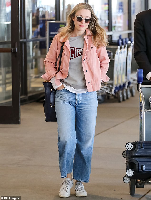 Lowkey lady: Rachel is private about her family; she has a two-year-old son whose name has never been revealed; pictured at LAX February 2020
