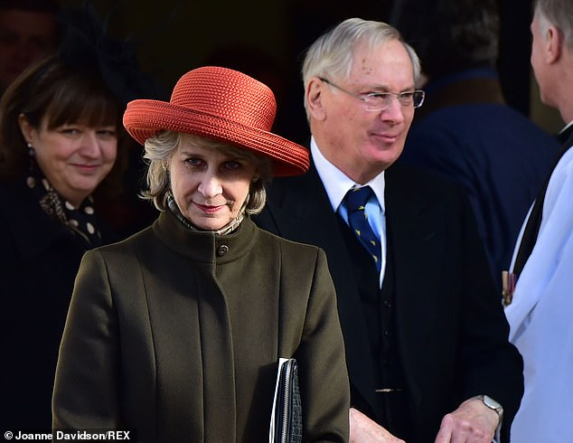 The Duke and Duchess of Gloucester (pictured) attending a thanksgiving service for the life of John Spencer-Churchill, 11th Duke of Marlborough, in February 2015
