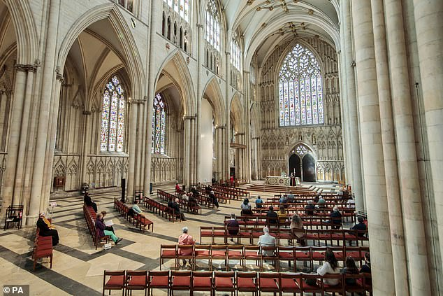 The Church of England yesterday set up a multi-million-pound compensation fund designed to funnel money to victims of historic sex abuse by bishops, clergy and lay church workers. Pictured:York Minster cathedral