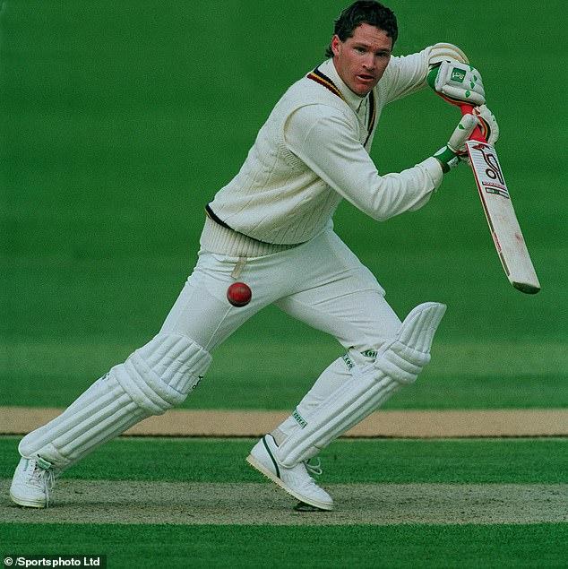 Australian batsman Dean Jones (pictured) playing County Cricket for Durham in 1992