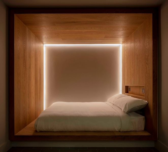 Futuristic: Rooms at Zedwell hotel feature sound-insulating walls, purified air, soft lighting, Egyptian cotton sheets and Hypnos mattresses