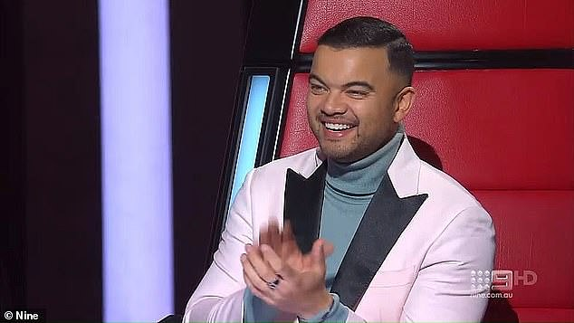 Round two: But it seems Seven are in talks with other established local artists to join the show, as to re-sign her fellow judge Guy Sebastian (pictured)