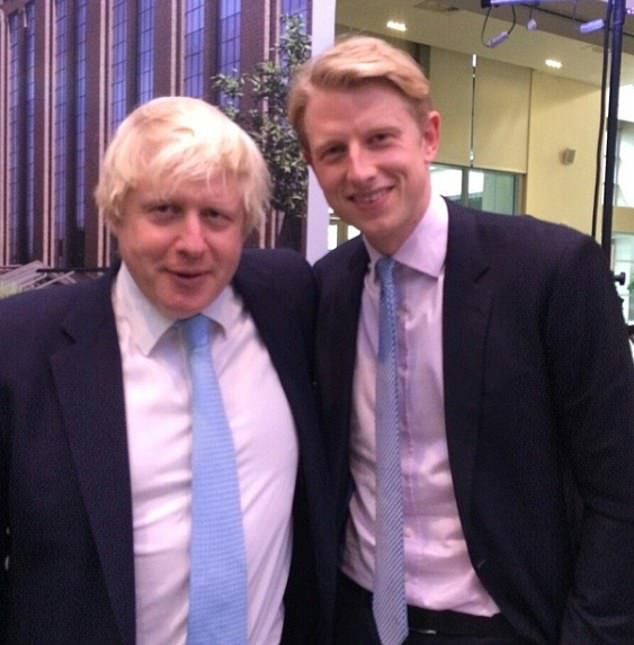 A coronavirus testing firm has hired Prime Minister Boris Johnson's half-brother Max (pictured together) as it hopes he can 'open doors'
