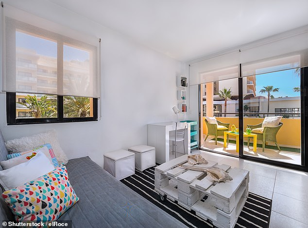 Since the lockdown travellers have started using Airbnb again, with many preferring to stay in a private apartment over a hotel (stock image)