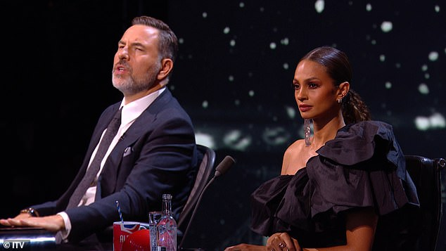 Wowed: Britain's Got Talent judges Alesha Dixon and David Walliams are left awestruck as contestant Belinda Davids blows them away with a stunning rendition of Whitney Houston's track I Have Nothing