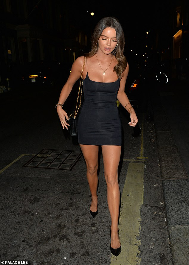 Hot stuff: Love Island's Maura Higgins proved just what her Love Island co-star Chris Taylor may see in her as she hit the town in London while sporting a sizzling mini on Friday