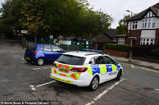 Police were called to Gosforth Park First School in Newcastle following the death of the girl