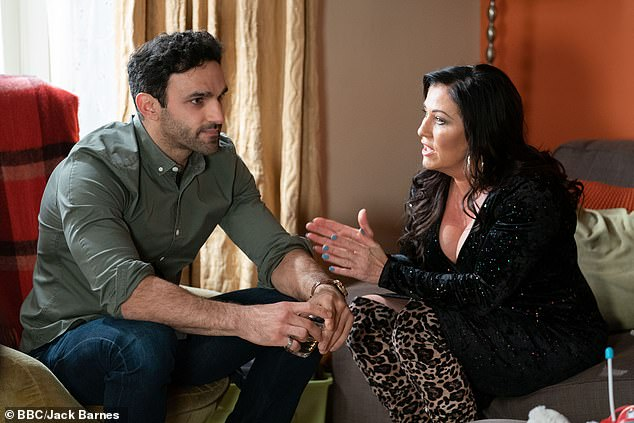 Couple: The market vendor, played by actor Davood Ghadami, most recently entered into a romance with Kat, portrayed by Jessie